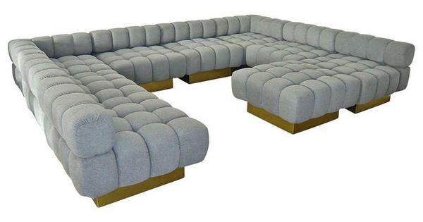 "Deep Sectional Sofas ""Deep Tuft"" Modular Sofa by Harvey Probber | Modular sofa ..."