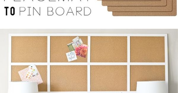 Ikea placemats to framed cork board tack the closet and for Ikea cork board