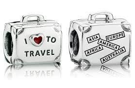 charm pandora i love to travel