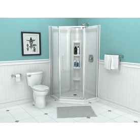 American Standard Axis Semi Frameless Silver Shower Door