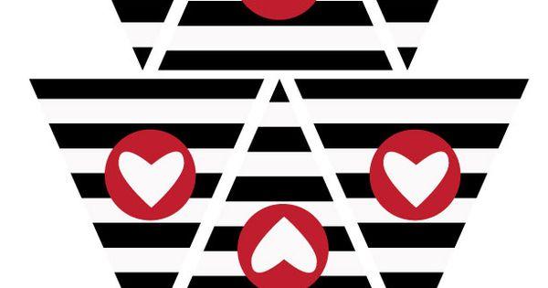 Valentine's Day idea - Free Printable Heart Banner | Felicityjane.com