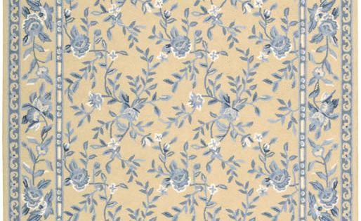 Nourison Traditional French Country Blue And Yellow Floral