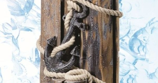 Decorative Nautical Pilings With Rope And Anchor House