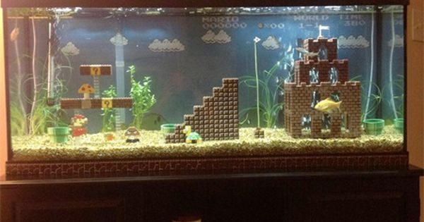 Mario Fish Tank... Need this! Fuckin eh awesome fishtank aquariums homedecor mario