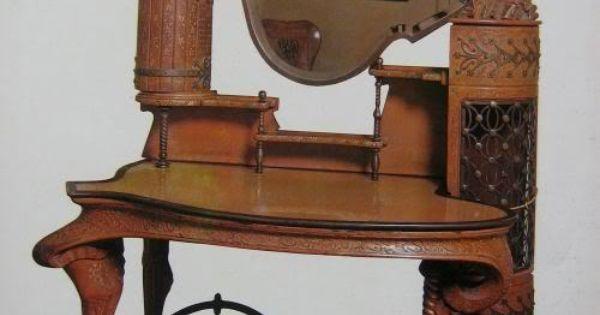 1886 1888 palacio g ell gaudi dise este mueble tocador for Gaudi muebles