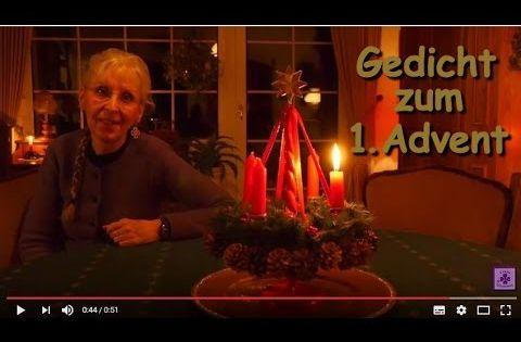 Ich Wunsche Dir Einen Wunderschonen Und Besinnlichen 1 Advent Mit Vielen Leckerein Youtube Gedichte Zum Advent Adventsgedichte Advent