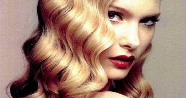 Vintage Wave Hairstyles With Side Bangs For Long Hair