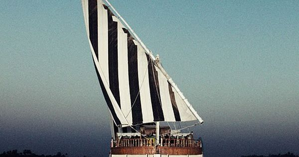Black white striped sails …