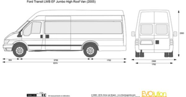 Vector Drawing Ford Transit Lwb Ef Jumbo High Roof Van Ford