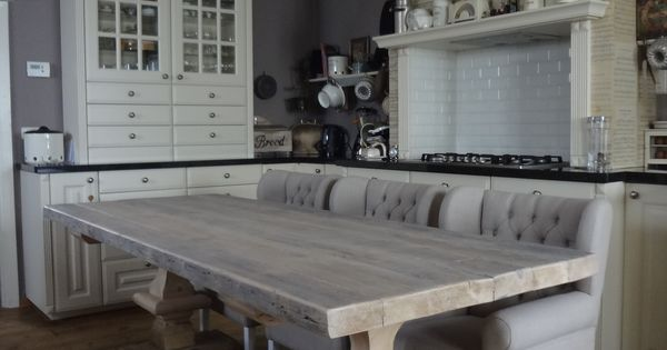 Massieve kloostertafels inrichting huis pinterest eetkamer eettafel en eethoek - Modern eetkamer model ...