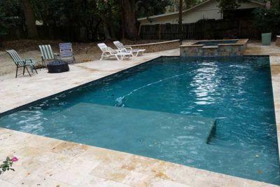 Image Result For Fiberglass Pool With Tanning Ledge Backyard Pool Fiberglass Pools Dream Pools