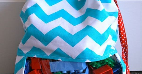 Sew a cute peekaboo toy sack ... tutorial 50 storage ideas from