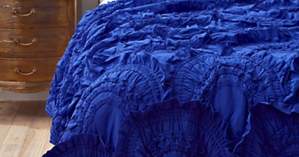 anthropologie cobalt blue bedding. I'm not a blue person but this color