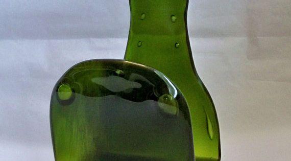 Plato de postre vintage, vidrio claro maneja un plato
