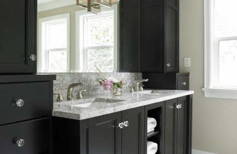 Bathroom Ideas - Black Cabinets