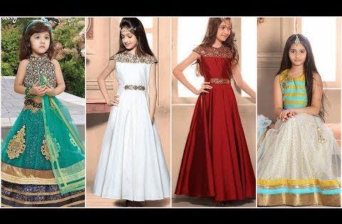 فساتين هندية للاطفال البنات 2018 بدلات هندية للبنات فساتين هندية ساري للاطفال البنات Youtube Dresses Prom Dresses Formal Dresses