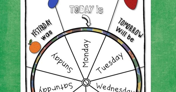 Free The Very Hungry Caterpillar Days Of The Week Wheel