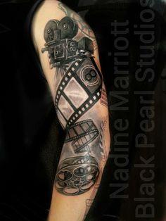 Fe50811da0254fa1d4fd2600934f2551 Jpg 236 314 Pixels Camera Tattoos Movie Tattoos Camera Film Tattoo