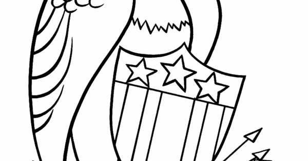 July 4th Coloring Pages The American Eagle Coloring Page