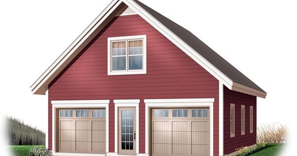 2 Car Garage Plan Number 64868 Garage Plans Detached Garage Plans With Loft Garage Plan