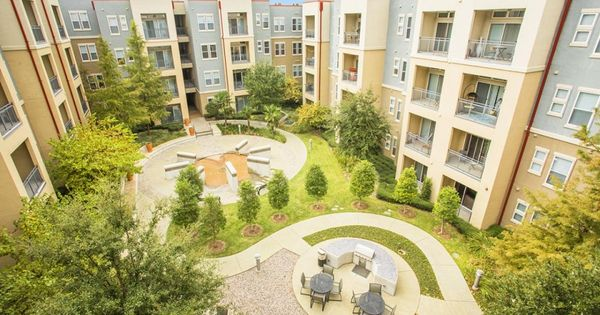 Beautiful View Of An Apartment Courtyard In 2021 Courtyard Apartments Apartment Building Apartment Architecture