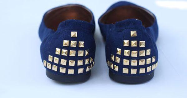 DIY Shoes : DIY Studded Flats