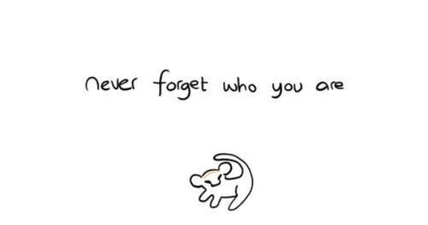Never forget who you are (Lion King) I really want this as
