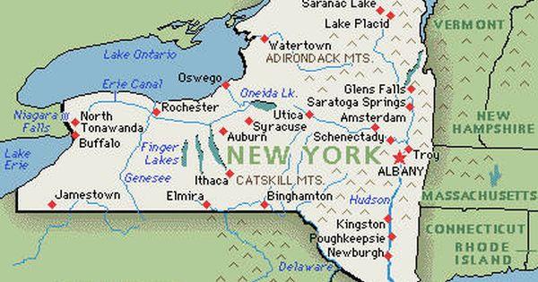 Pin By Dana Kelly On Genealogy Map Of New York Lake George Ny Map