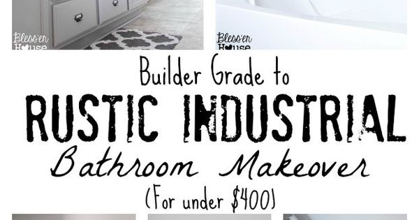 I Luv this Bathroom Makeover!!! Master Bathroom Budget Makeover: Builder Grade to