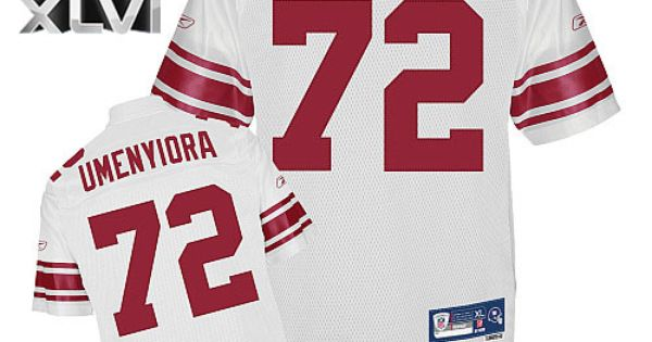 giants 72 osi umenyiora white super bowl xlvi embroidered nfl jersey only 22.50usd pin new york giants larry donnell royal blue team