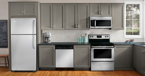 Grey Cabinets Kitchen Appliance Packages And Appliances On Pinterest
