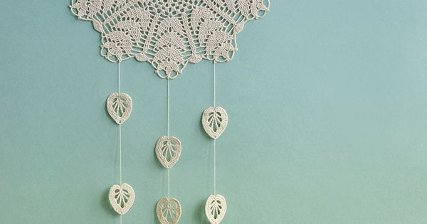 Large beige dream catcher floral crochet doily dream catcher crochet wall decor rustic style Crochet home decor pinterest