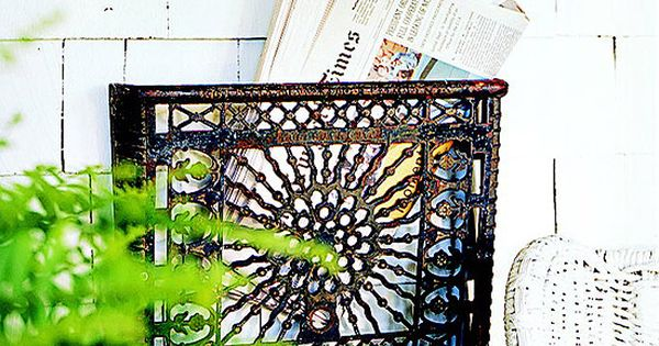 an idea for repurposing our metal heating grates