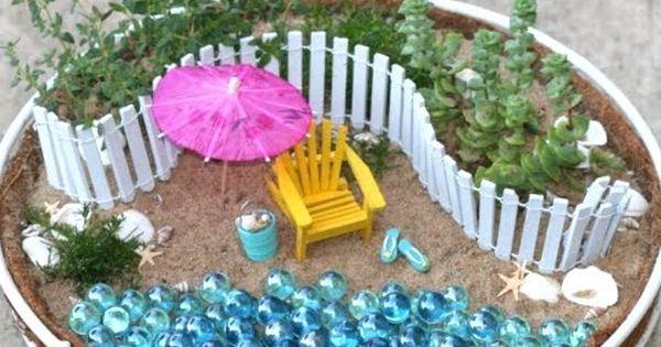 beach themed mini gardens
