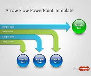Free Arrow Flow Chart Template For Microsoft Powerpoint Presentations With Different Slide Designs And Layo Powerpoint Powerpoint Templates Flow Chart Template