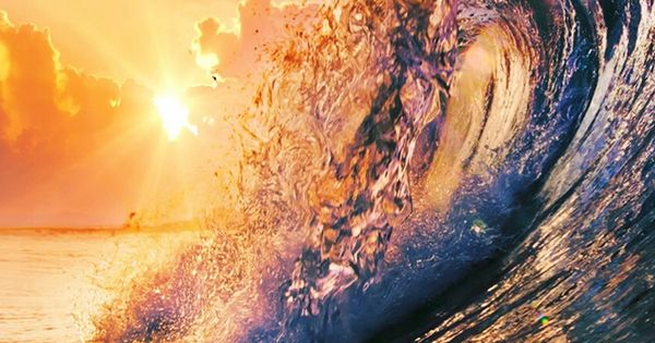 Sunrise Village Pubg Wallpaper For Phone And Hd Desktop: Golden Surfing Wave Sunset IPhone 6 Wallpaper