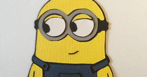 Minion Made With My Silhouette Cameo Love Paper Piecing