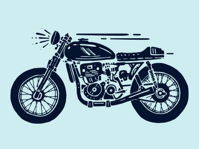 Motorbike Desain Logo Seni Animasi