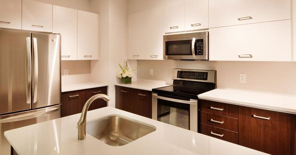 White 42 upper kitchen cabinets and espresso finished for Kitchen cabinets 42 uppers