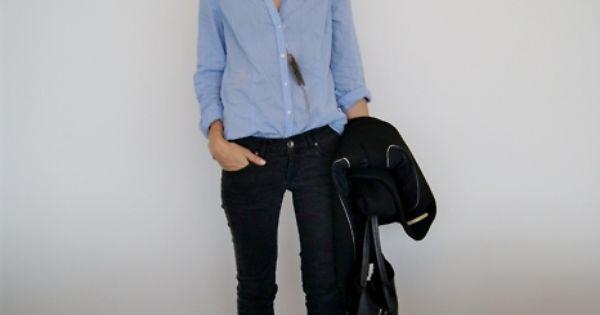 Shirt Tucked Or Untucked Denim Or Black Pants
