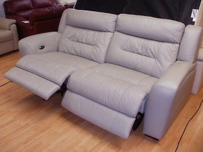 Silver Gray Leather Eletric Recliner 3 2 Seater Sofa 32 999 2 Seater Sofa Sofa Reclining Sofa