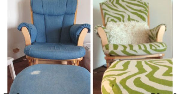 how to recover a glider rocker cushion  Home Design on the DIY budget ...