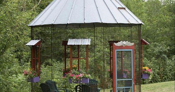 Old Corn Bin Turned Into Screened In Garden Spot