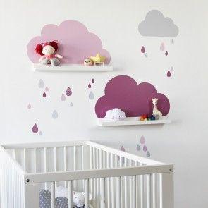 Wandtattoo Wolken Fur Ikea Bilderleiste Farbe Rosa Kinder Zimmer Deko Kinder Zimmer Kinderzimmer
