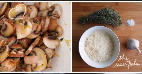 Linguine with Lemon, Garlic, and Thyme Mushrooms | vegetarian meals ...