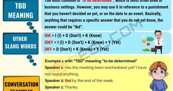 Tbd Meaning What Does Tbd Mean Useful Text Conversations Text