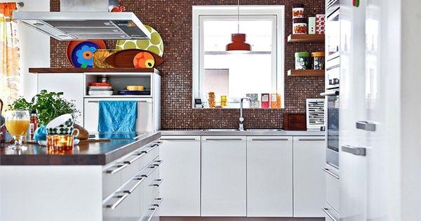 Herlige farger og atmosfaere Kitchen - kj?kken Pinterest