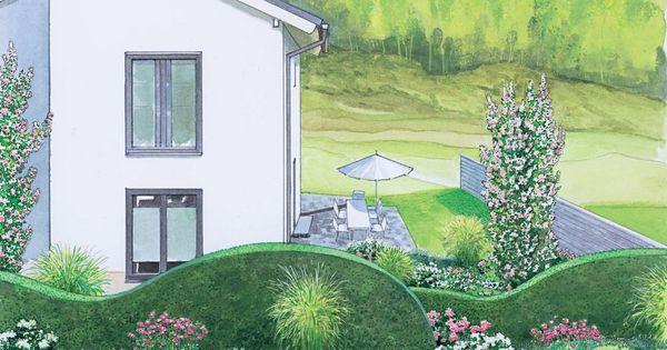 Attraktiver vorgarten als sichtschutz - Pflanzplan vorgarten ...
