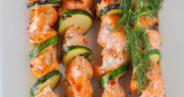 Lemon and Dill Barbecue Salmon Kabobs | Recept - Dille zalm, Gezond en ...