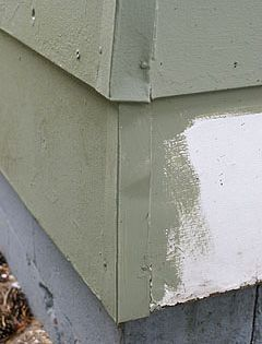 Metal End Caps At Corner Of House With Wood Siding Fiber Cement Siding Wood Siding Cement Siding